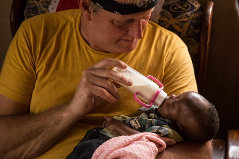 Jon saw the opportunity to help this little one by buying it a year's worth of formula to save his life